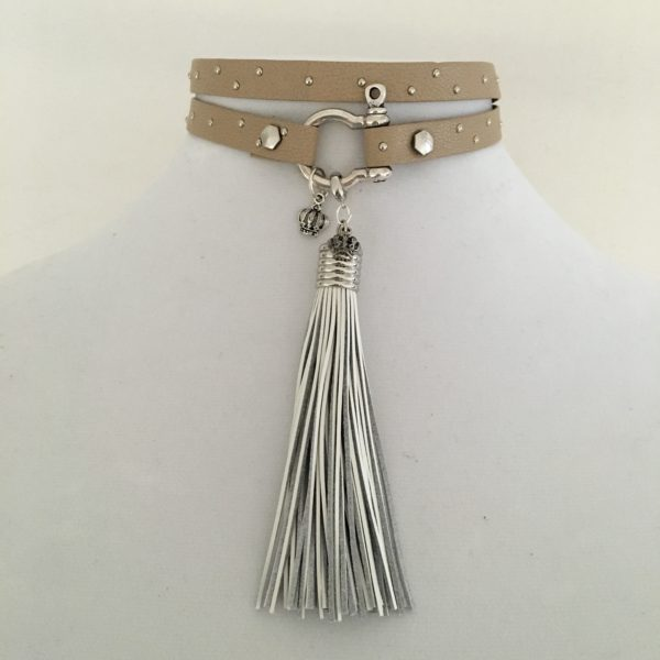 Double Layer Choker With Tassle