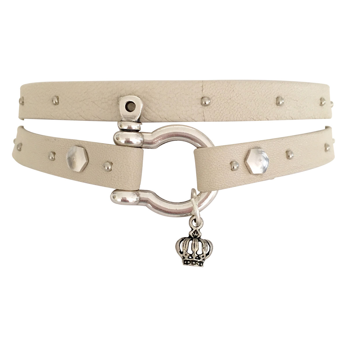Nappa Leather Choker With Grommets
