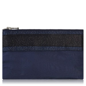 Lucky mini pouch in navy with navy and black Shindo stripe.