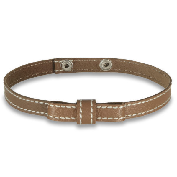 Cultured mini bow choker in camel beige
