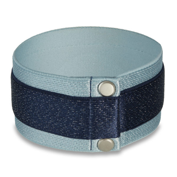 Shining Star choker in denim and navy